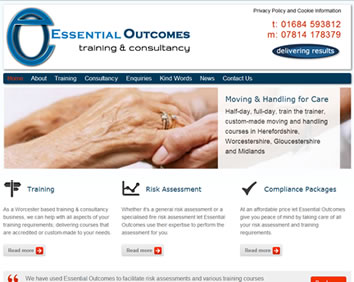 Essential Outcomes Training Worcestershire Website Now Live